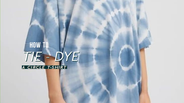 How to tie-dye a circle t-shirt?