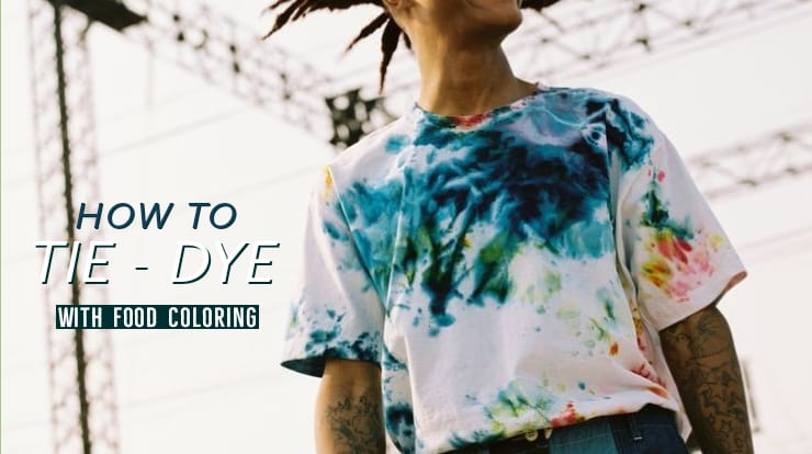 How to tie-dye t-shirts with food coloring?